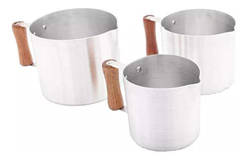 leiteira alumínio batido