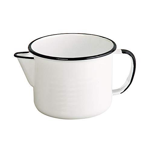 leiteira branca porcelana